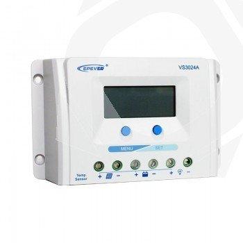 Regulador solar PWM de 30 amperios VS3024A con display