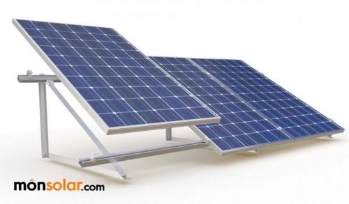 Estructura Para 3 Placas Solares De 12v En Posici 243 N