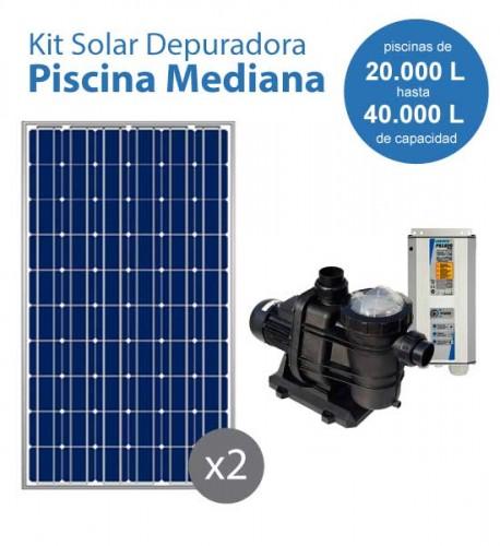 Kit solar con bomba para la depuradora de una piscina mediana for Bombas para piscinas precios