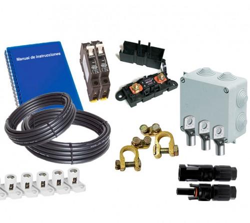 Kit De Material Eléctrico Rebt Para Instalaciones Con 1 Panel Solar