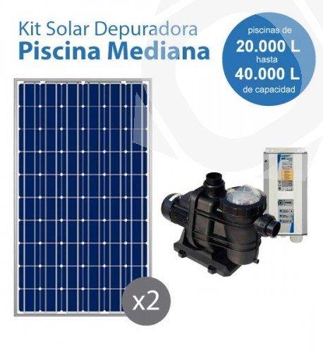 Kit Solar Con Bomba Para La Depuradora De Una Piscina Mediana