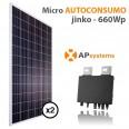 Kit micro Autoconsumo solar 2 placas solares monitorización e inyección 0