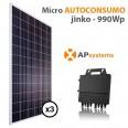 Kit micro Autoconsumo solar 3 placas solares monitorización e inyección 0