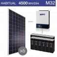 Kit solar 3.000W potencia y 4.500Wh/día consumo habitual - M32