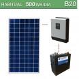 Kit solar 1000W potencia y 500Wh/día consumo habitual - B20