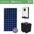 Kit solar 1000W potencia y 600Wh/día consumo habitual - B21