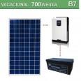 Kit solar 1000W potencia y 700Wh/día consumo vacacional - B7