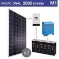 Kit solar 2000W potencia y 2000Wh/día consumo vacacional - M1