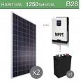 Kit solar 3000W potencia y 1250Wh/día consumo habitual - B28