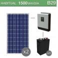 Kit solar 3000W potencia y 1500Wh/día consumo habitual - B29