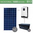 Kit solar 3000W potencia y 1600Wh/día consumo vacacional - B13