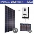 Kit solar 3000W potencia y 2000Wh/día consumo habitual - M22
