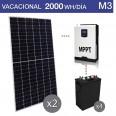 Kit solar 3000W potencia y 2000Wh/día consumo vacacional - M3