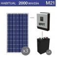 Kit solar 3000W potencia y 2000Wh/día consumo habitual - M21