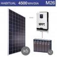 Kit solar 3000W potencia y 4500Wh/día consumo habitual - M26