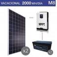 Kit solar 5000W potencia y 2000Wh/día consumo vacacional - M8