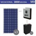 Kit solar 5000W potencia y 3000Wh/día consumo vacacional - M9