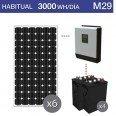 Kit solar 4000W potencia y 3000Wh/día consumo habitual - M29
