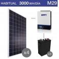 Kit solar 5000W potencia y 3000Wh/día consumo habitual - M29