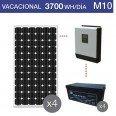 Kit solar 4000W potencia y 3700Wh/día consumo vacacional - M10