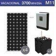 Kit solar 4000W potencia y 3700Wh/día consumo vacacional - M11