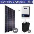 Kit solar 5000W potencia y 3700Wh/día consumo vacacional - M11