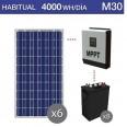 Kit solar 5000W potencia y 4000Wh/día consumo habitual - M30