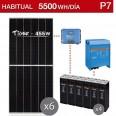 Kit solar 5000W potencia y 5500Wh/día consumo habitual - P7