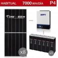 Kit solar 5000W potencia y 7000Wh/día consumo hatibual - P4