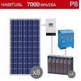 Kit solar 5000W potencia y 7000Wh/día consumo habitual - P8