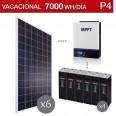 Kit solar 5000W potencia y 7000Wh/día consumo vacacional - P4