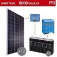 Kit solar 5000W potencia y 9000Wh/día consumo habitual - P9