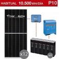 Kit solar 5000W potencia y 10500Wh/día consumo habitual - P10
