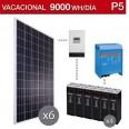 Kit solar 5000W potencia y 9000Wh/día consumo vacacional - P5