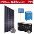 Kit solar 6000W potencia y 10500Wh/día consumo habitual - P10