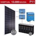 Kit solar 5000W potencia y 13000Wh/día consumo habitual - P11