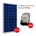 Kit solar Autoconsumo Directo FRONIUS Primo de 3,3kWp (4800 kWh/año)