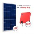 Kit solar Autoconsumo Directo SMA Sunny Boy de 3,3kWp (4800 kWh/año)