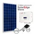 Kit Solar Autoconsumo Directo SolarEdge de 3,3kWp (4800 kWh/año)