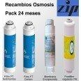 Recambio 24 meses Filtros y Membrana para Osmosis ZIP