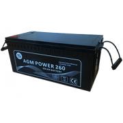 Batería AGM POWER de 260h en C100 de larga vida útil