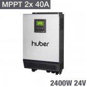 Inversor Cargador huber mppt2424 DUO 24V, 2400W, doble regulador mppt de 40A