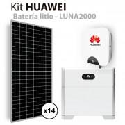 Kit solar autoconsumo Huawei de 5kW con batería de litio HUAWEI