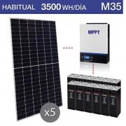 Kit solar de uso permanente 3500Wh/dia días M35