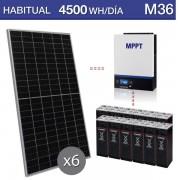 Kit solar consumo de 4500Wh/día durante todo el año M36