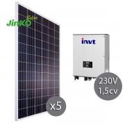 kit solar para depuradora existente con bombas de 1.5CV y 230 voltios