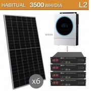 Kit solar con baterías de litio Dyness 9,6kwh