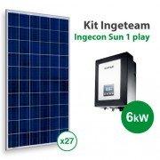 Kit solar de autoconsumo Ingeteam con 6kw y 11000kwh/año