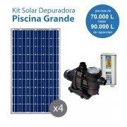 kit solar de bombeo para piscinas grandes con depuradora