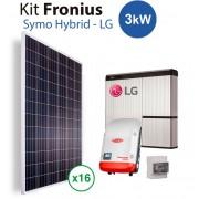 Kit Solar Autoconsumo Bateria litio LG y fronius Hybrid 3kw